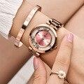 Женские часы Aimasi  модные роскошные часы из нержавеющей стали с кристаллами из розового золота  2018