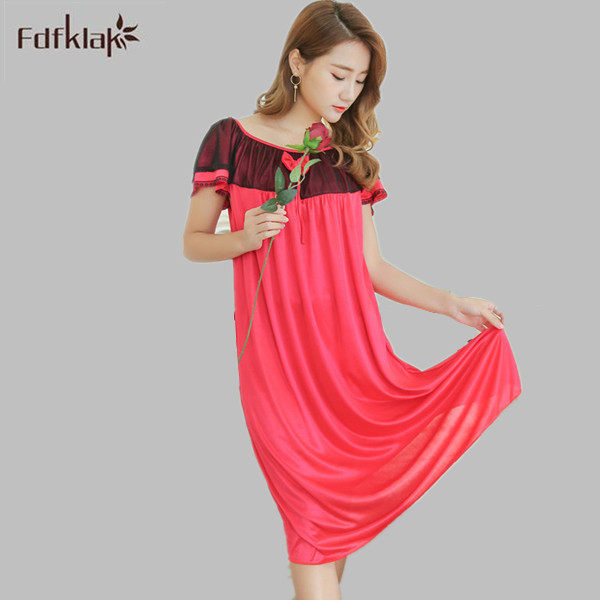 bf5add6408 ... summer women nightgown cotton striped sleeveless sleep dresses ladies  nightshirts blue pink girls nightdress A712. US  11.88. Fdfklak 2017 New  Arrival ...