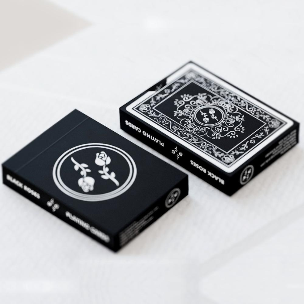 1 pièces Roses noires carte à jouer Poker taille Deck USPCC personnalisé édition limitée nouveau scellé