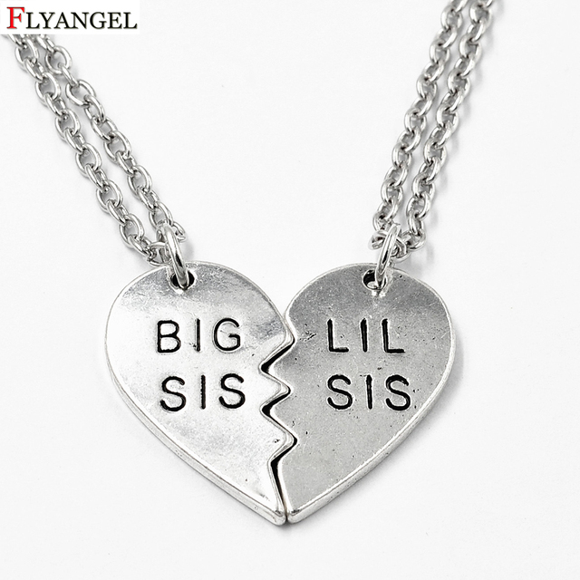 Friends Jewelry Broken Heart Necklaces BIG SIS LIL Pendants Best Necklace Meaningful Birthday Gift