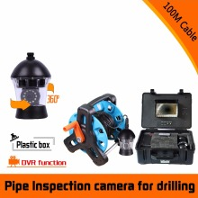 (1 set) 100M Cable Well Use 360 degree rotation camera with DVR function Sewer Inspection Camera waterproof underwater Fishing