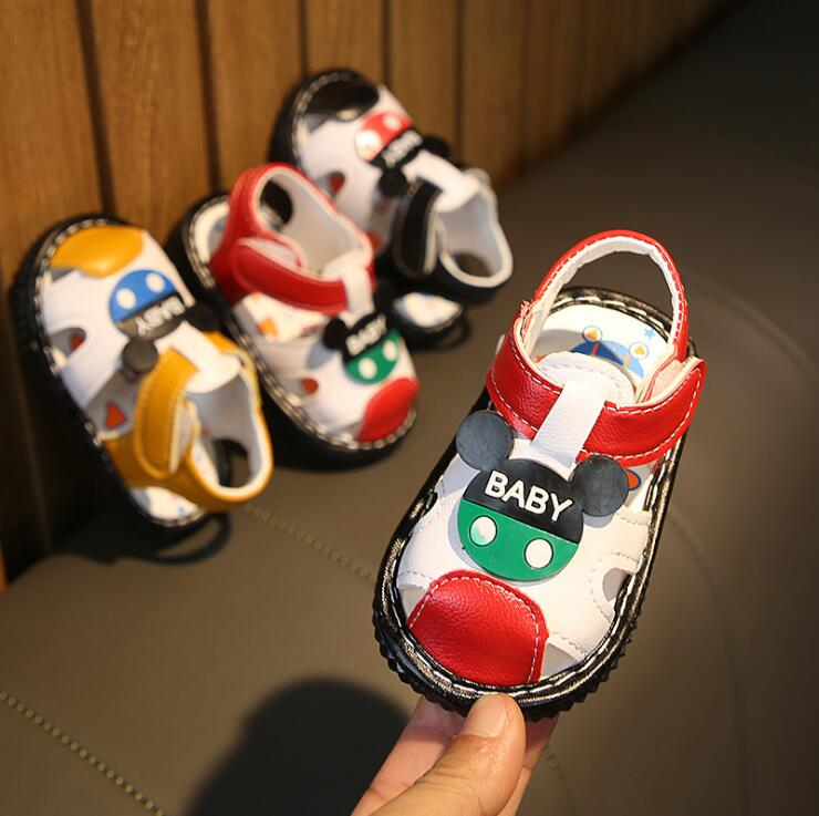 2019 Summer Baby Boys Letters Mickey Head Sandals Kid Boy Infant Toddler Sandals  15-19 0-2years A-207 TX09