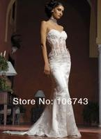 new design hot Sexy see through bridal gown sweetheart lace appliques mermaid Custom free shipping 2018 bridesmaid dresses