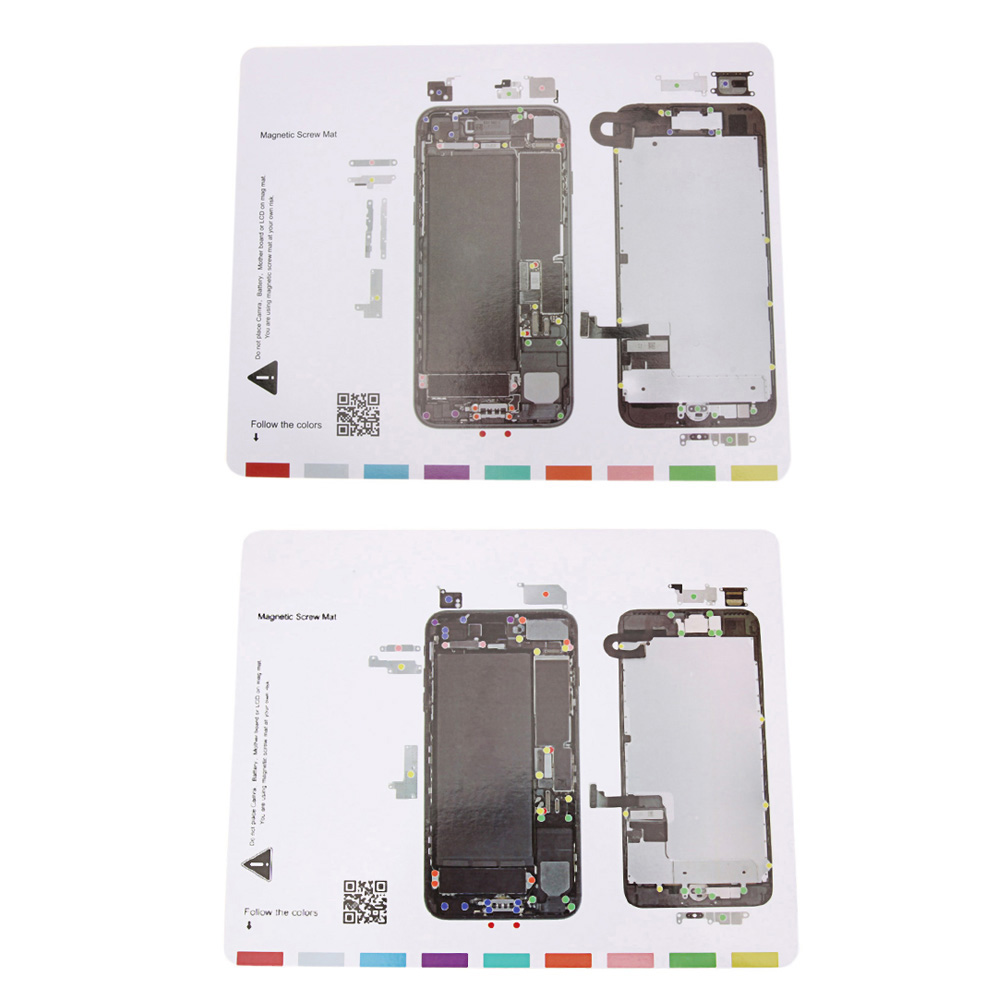 Профессиональный Ремонт мобильных телефонов Инструменты 25×20 см Магнитная винт рабочий график Коврики для iPhone 7/7 Plus ЖК-дисплей Экран открыти…