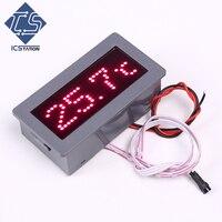 DZB198 Rouge Affichage LED Dot Matrice Électronique Thermomètre w/Shell 5 V 200mA ds18b20 Scellé Shell Modèle Capteur D'humidité