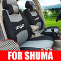 Cobertura total cubierta del coche ajuste personalizado para kia shuma auto accesorios establece sándwich fundas de asiento cojines de asiento delantero y trasero asientos de coche