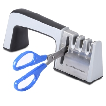 Portable Knife Sharpener System 4 In 1 Scissors Four Stages Household Non-Slip Kitchen Tools Blade Sharpening 19