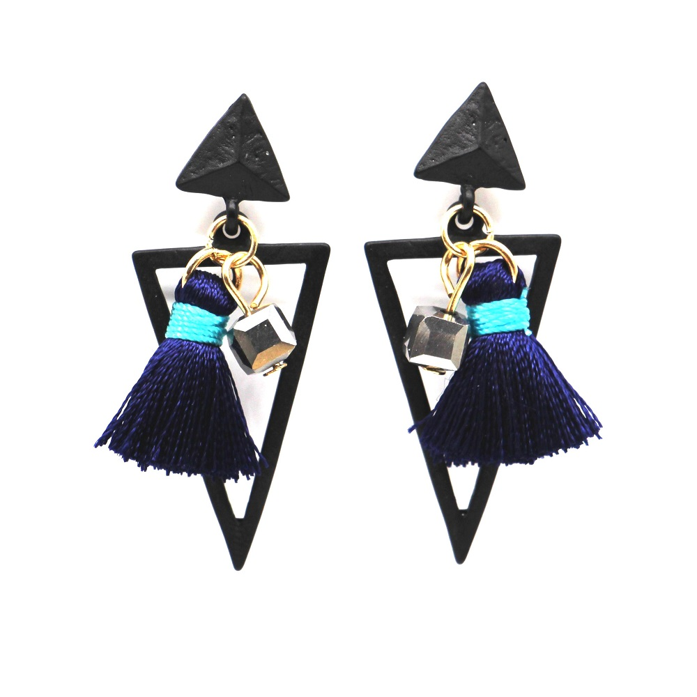 Delicate font b geometric b font triangle tassel font b earrings b font for women bijoux