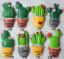 (5 pieces / lot)Creative three-dimensional cute meat plant cactus refrigerator stickers fridge magnet цена