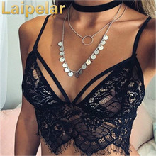 Sexy Women Strappy Lace Crop Tops Bandage Solid Tanks Spaghetti Strap V Neck Floral Bralette Bralet Bra Bustier UnPadded Tops sexy strappy random rose embroidery bralet in back