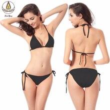 2019 Sale Swimsuit Summer Sexy Women Bikini Set Bandage Pure Color Swimwear Multi-color Low Waist Beachwear