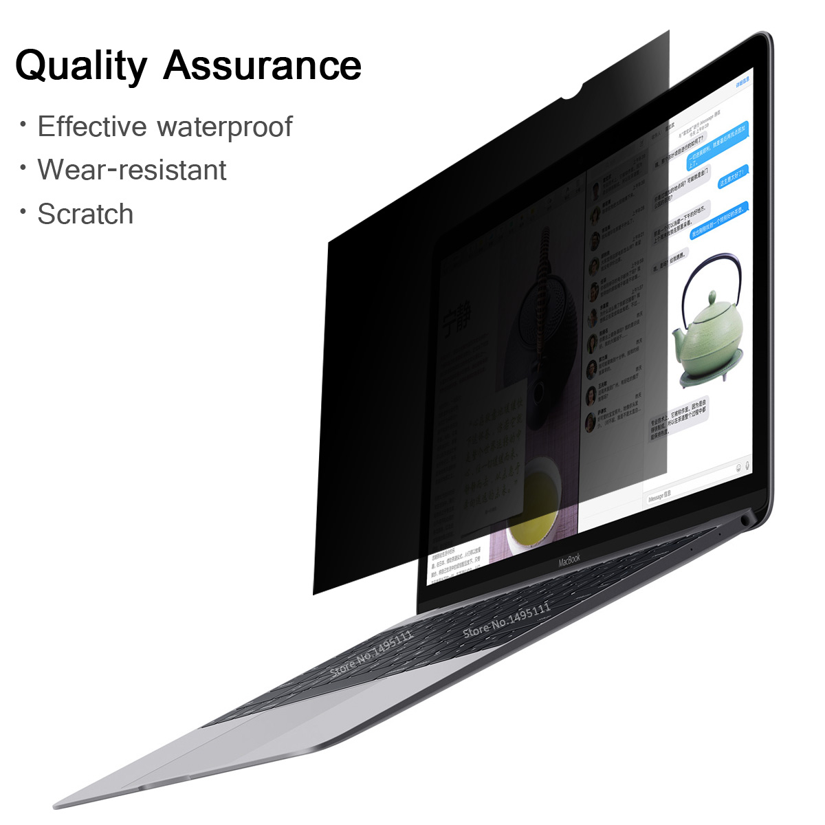 14 inch (310mm*174mm) Privacy Filter For 16:9 Laptop Notebook Anti-glare Screen protector Protective film 4