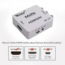 Wiistar HDMI to AV/RCA Converter Adapter HDMI to Composite/CVBS  Adapter Video 1080P HDMI2AV Support NTSC PAL for HDTV PS4