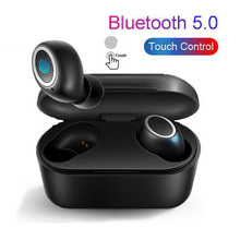 Portable TWS Wireless Touch Earbud 3D Stereo Sound Bluetooth V5.0 Earphone With Charge Case Sport Bass Headset Auto Power On/Off