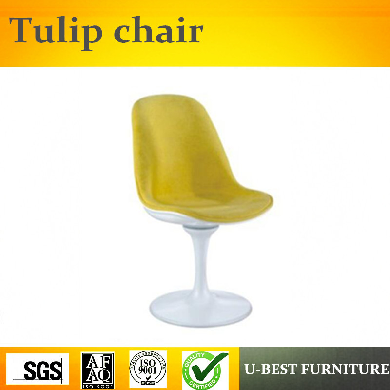 U-BEST Replica Modern fabric Cushion fiberglass Tulip Dining Chair,nordic penguin tulip chair with easy relax swivel chair u best modern fiberglass bar chair dining chairs with fabric cushion designer classic tulip dining chair