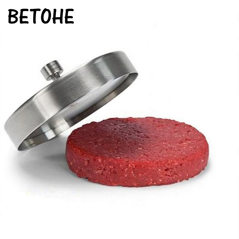 BETOHE Hamburger presses patties maker machine Meatloaf Stainless steel mold. Pizza Patties Sandwich Maker Burger Mold image