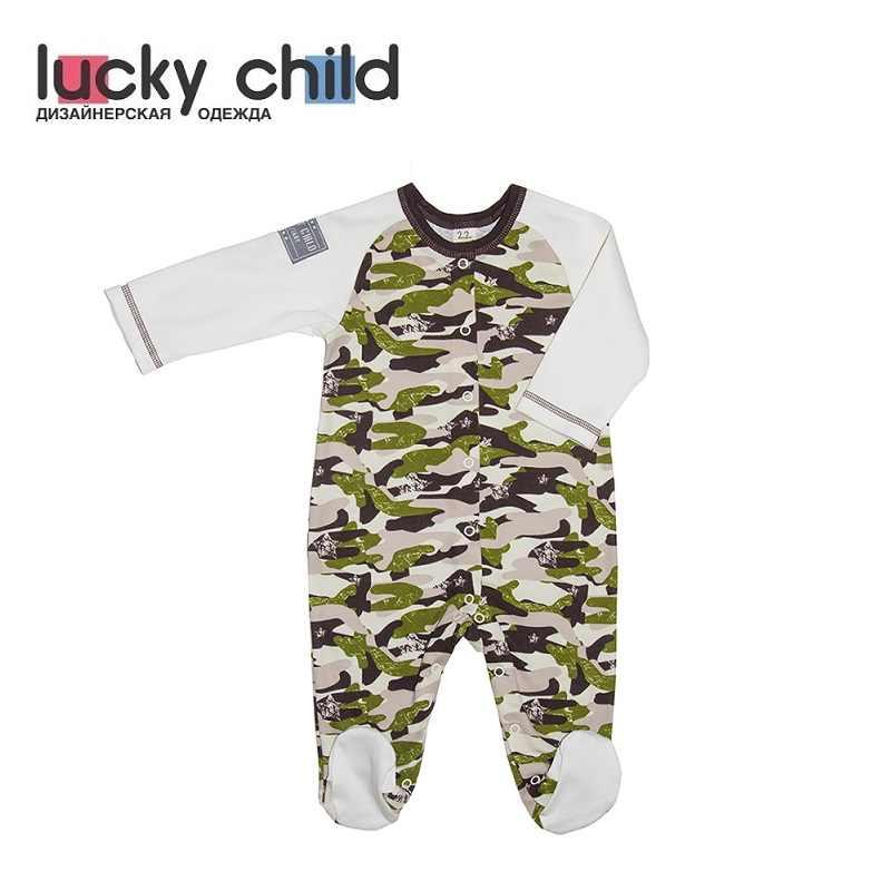 Комбинезон Lucky Child для мальчиков и девочек (Милитари) [сделано в России, доставка от 2-х дней]