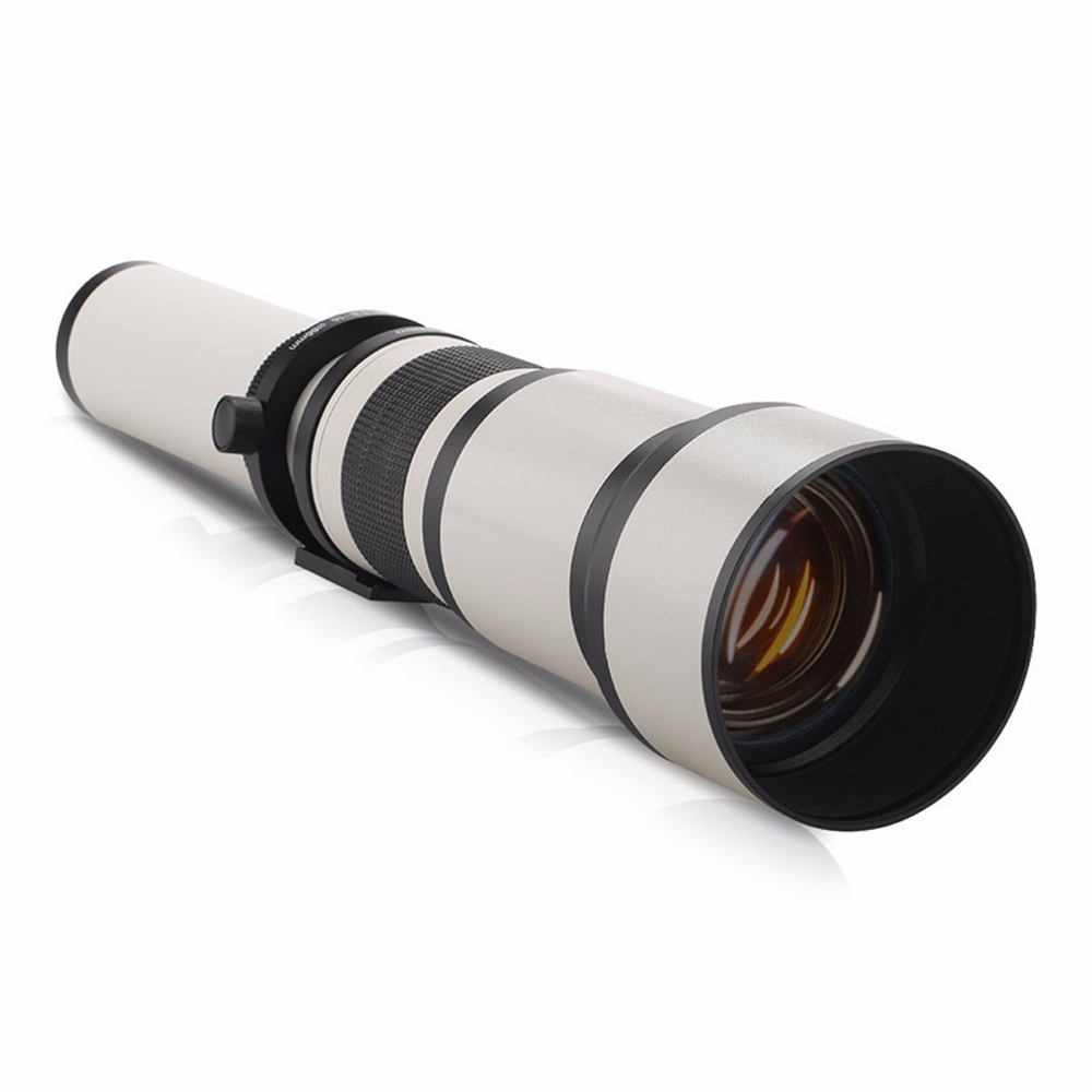 650-1300mm F8.0-16 Super Telephoto Manual Zoom Camera Lens+T2 Adapter for DSLR Canon Nikon Pentax Olympus Sony A6500 A7III X-T3