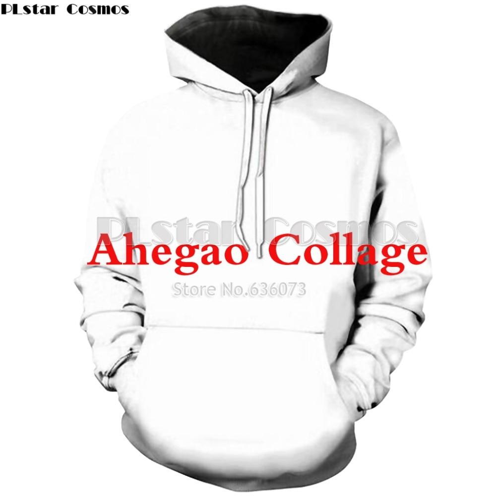Plstar cosmos drop shipping 2018 new fashion hoodie anime girl collage 3d print hoody men women casual hooded sweatshirt