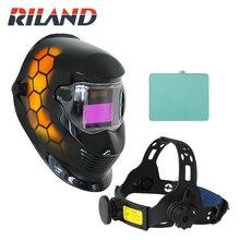 RILAND Honeycomb Automatic Solar Auto Darkening MIG TIG ARC Welding Helmets Mask/Welder Cap