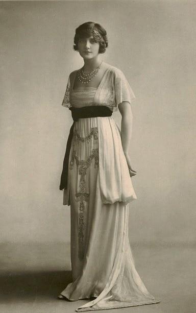 1910 Dressla Satin Blouse Volants Robe Robes Chemisier Multi À Période Victorienne Meurt Longue wSxqwaHrg