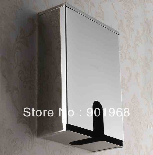 2pcs/lot wall mounted-stainless steel tissue box-paper box