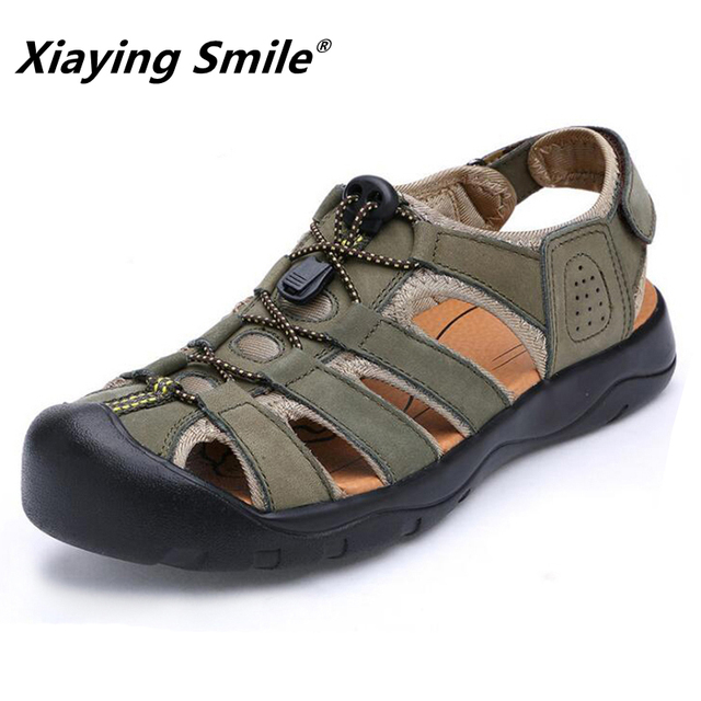 Fisherman Shoes Mens Sandals Leather Summer Beach Dress Fashion Outdoor Walking Sport Male