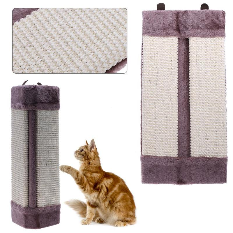Folding Funny Cat Scratch Toy Catnip Sisal Hemp Kitten Cat Scratching Post Training Toy Sofa Wall Corner Scratcher Pad Mat Board