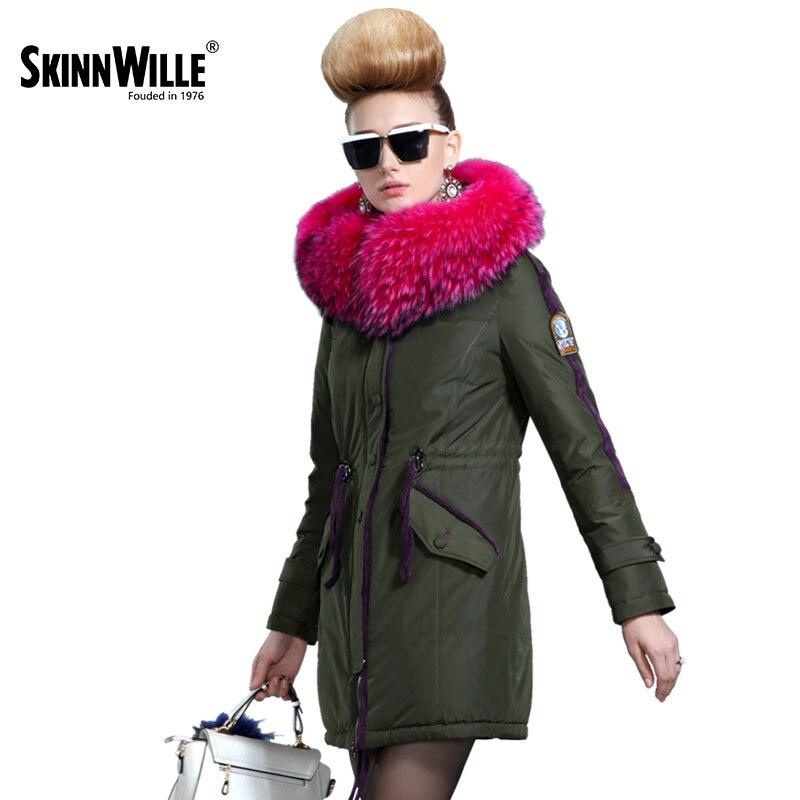 Skinnwille 2017 nowych produktów kurtka puchowa w zimie więcej kobiet w długi biały puch kaczy nawet chinstrap obroże w Płaszcze puchowe od Odzież damska na AliExpress - 11.11_Double 11Singles' Day 1