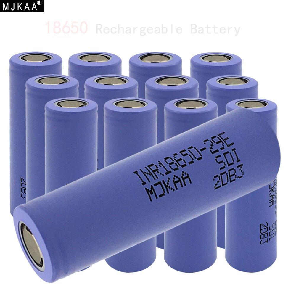 6/10 pcs 18650 2900mAh Da Bateria Cabeça Chata 3.7V Recarregável Li-ion para Lanterna Banco Do Poder Da Bateria 18650