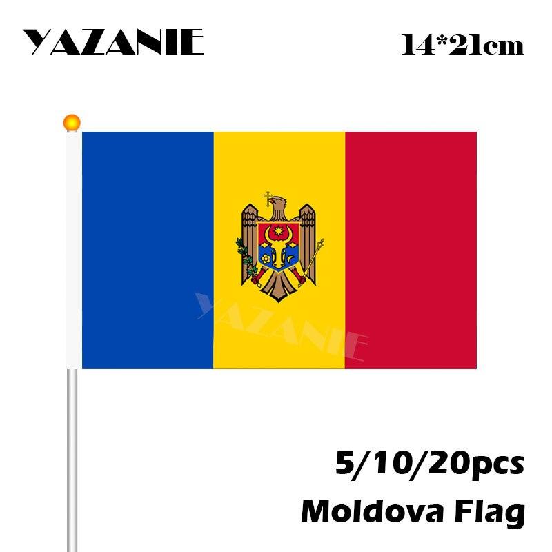 3/'/' 6/'/' or 8/'/' Moldova Flag Car Bumper Sticker Decal 5/'/'