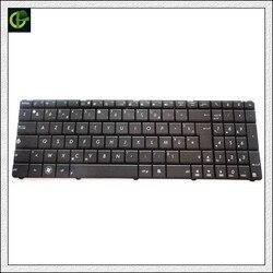 Francuski klawiatura do ASUS X53 X54H k53 A53 N53 N60 N61 N71 N73S N73J P52 P52F P53S X53S A52J X55V X54HR czarny FR klawiatura AZERTY w Zamienne klawiatury od Komputer i biuro na