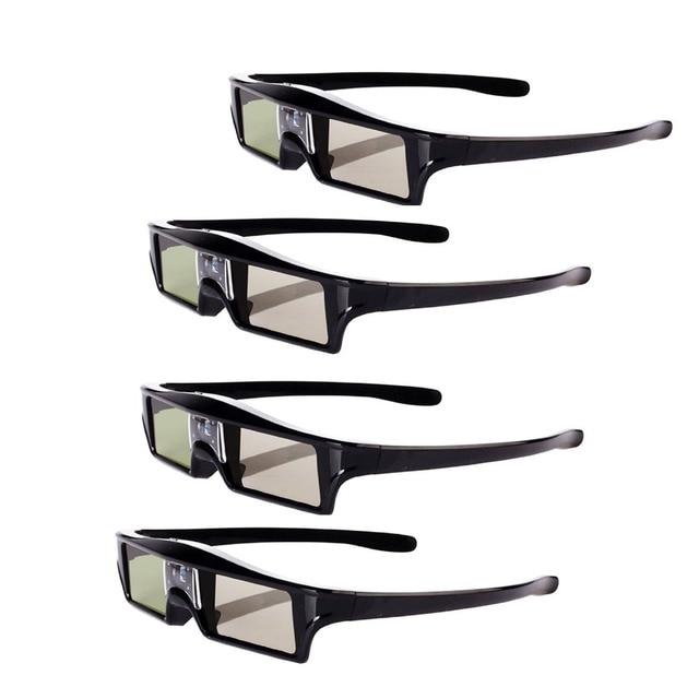 4psc 144Hz 3D IR Active Rechargeable Shutter Glasses for Acer ViewSonic BenQ Vivitek Optoma 3D DLP-Link Ready Projector