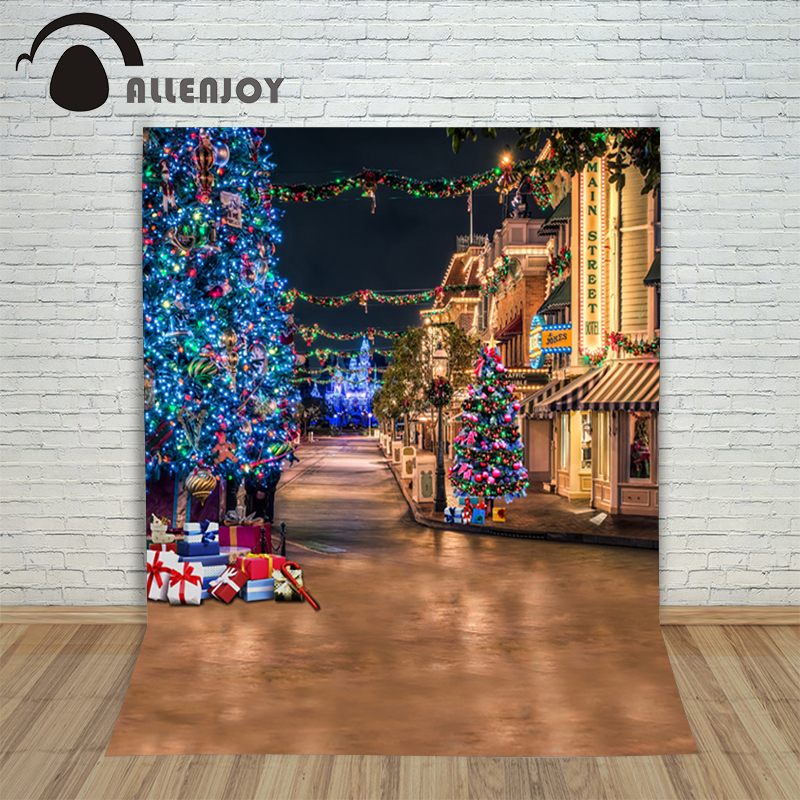 Christmas background pictures vinyl Street tree gift lantern child photocall decoration wonderland photo studio backdrop christmas background pictures vinyl tree wreath gift window child photocall fairy tale wonderland camera photo studio backdrop