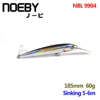 NOEBY 1 Pcs Trolling Fishing Lure 185mm 60g 5 6m Sinking Super Minnow Lures Fishing Bait