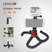 Flexible Mini Octopus Tripod with 360 Panoramic Ball Head Phone Holder Bluetooth Remote Gopro Camera Tripod Stand Handle Grip