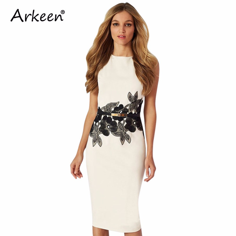 Korean 2017 Elegant Embroidery White Floral Dress Gothic Purple ...