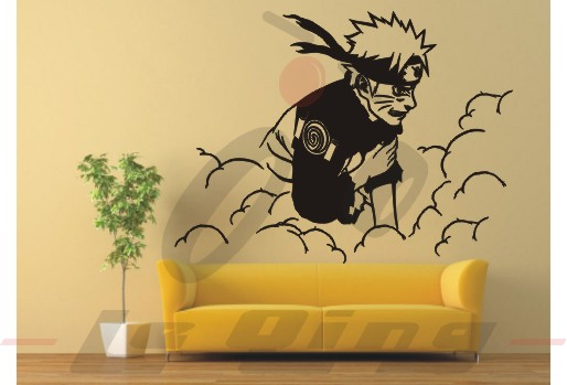 DCTAL Naruto Decal Japanese Cartoon Naruto Wall Stickers Sticker ...