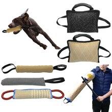 Дрессировочная подушка для укуса питомца, джутовый рукав для укуса собаки, для дрессировки, для полиции, K9, для молодых малинусов, немецкая овчарка, Ротвейлер