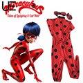Kids Zip The Miraculous Ladybug Cos Costume Halloween Girls Ladybug Marinette Child Lady Bug Spandex Full Lycra Zentai Suit