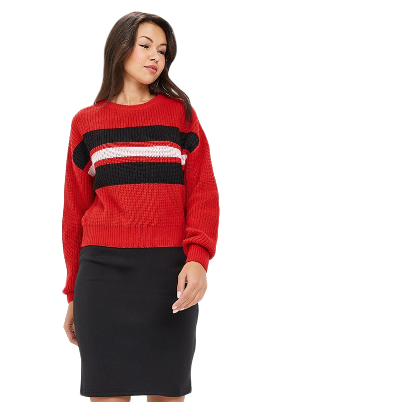 Sweaters MODIS M182W00300 jumper sweater clothes apparel pullover for female for woman TmallFS bear patched plus size pullover sweater