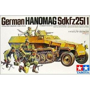 Image 2 - Немецкая модель в масштабе 1/35 Hanomag Sdkfz 251/1 Вт/5 фигурок, модель военной сборки, строительные комплекты Tamiya 35020