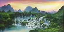 Ручная роспись Современная картина маслом на холсте пейзаж в