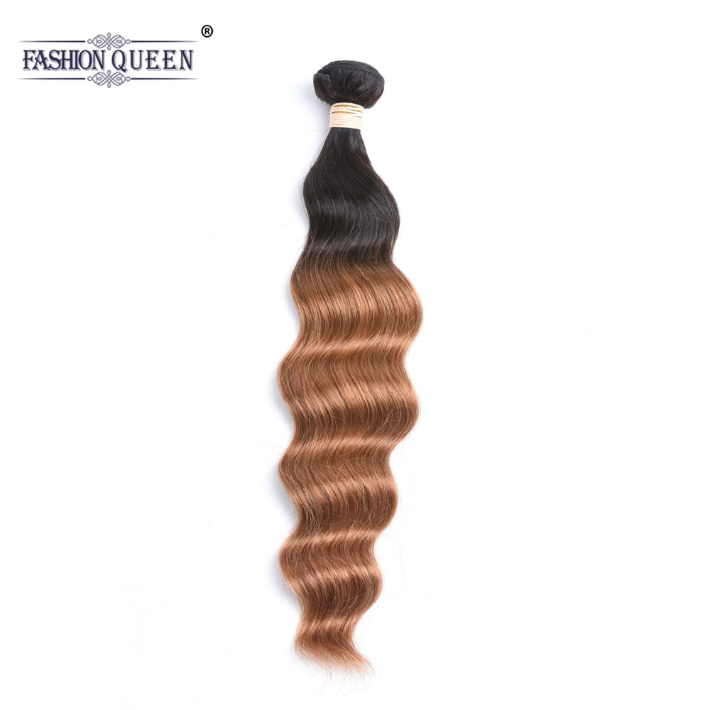 Ombre Brazilian Hair Ocean Wave Human Hair Extensions T1B/30 Non Remy Ombre Hair Bundles 8-26 Inch Natural Wave Hair Bundles