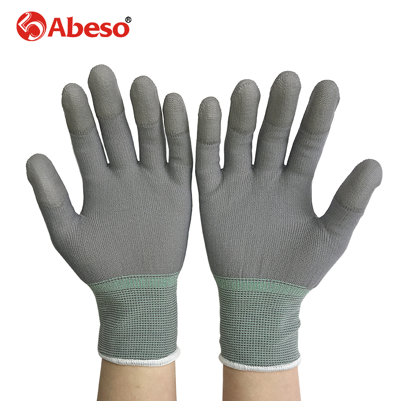 Abeso 1pair Antistatic Gloves Anti Static ESD Electronic Working Gloves pu palm coated finger PC Antiskid for Finger A3004 резиновые сапоги barbie
