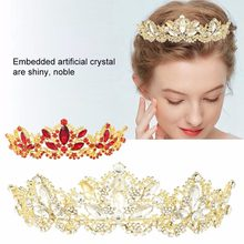 Luxury Bridal Wedding Artificial Crystal Tiara Hair Band Princess Crown Hair Jewelry wedding hair jewelry accessories(China)