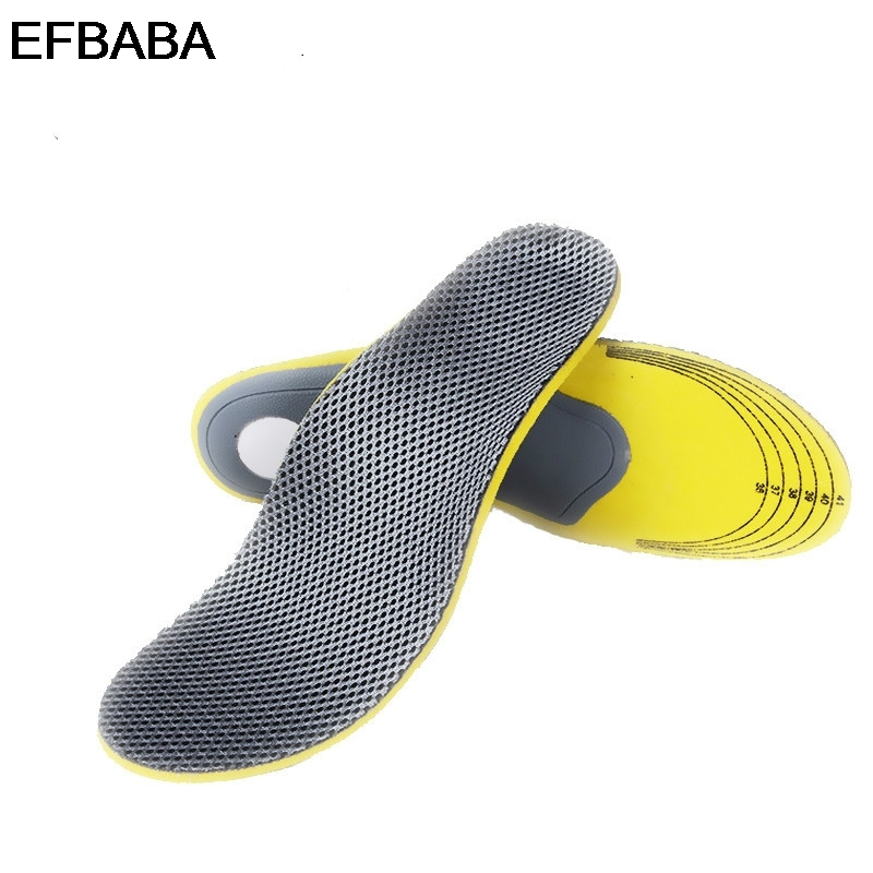 EFBABA Sweat Breathable Sports Insoles Flat Foot Arch Support Orthopedic Insoles Men Women Shoe Orthopedic Shoes Pad Accessories ultra soft memory foam pu sports insoles women or men shoes pad gel orthopedic thickened flatfoot absorb sweat military insoles
