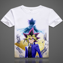 Yu-Gi-Oh! T-shirt Anime Yugi Mutou Cosplay Short Sleeve T shirt Seto Kaiba Breathable Tshirt Fashion Men Women Tees(China)