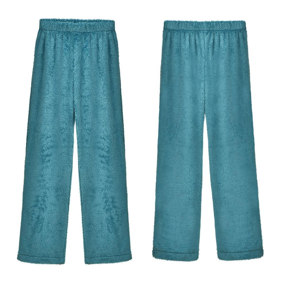 Plus Size 4XL 5XL Winter Pajamas Fleece Home Pants Women Sleepwear Thicken Trousers Flannel Casual Warm Sleep Bottoms