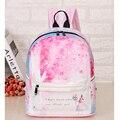 Bolsa de viaje de primavera 3D impresión floral PU cremallera mochila femenina 2016 del diseñador de moda mochilas escolares adolescente niñas viajan mochilas de las mujeres